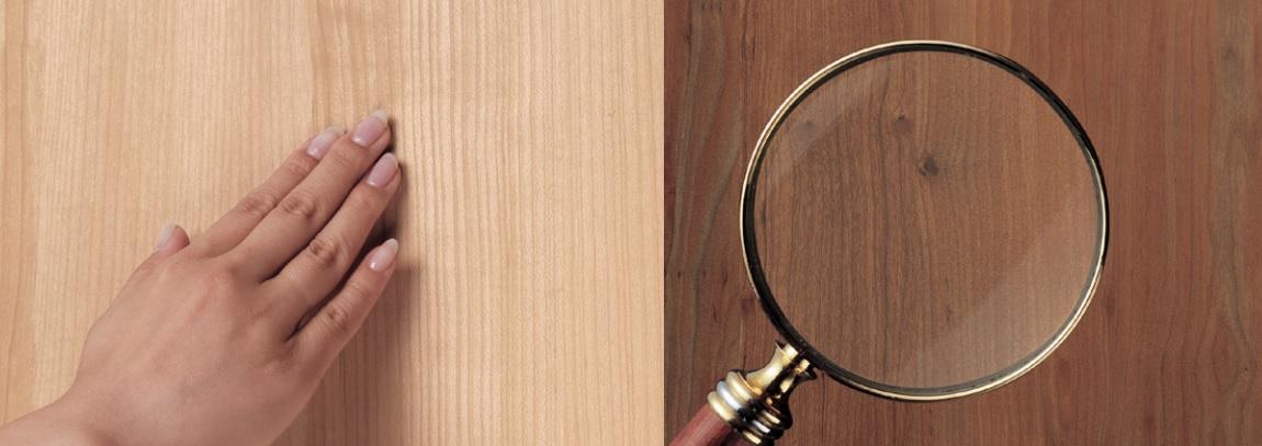 配合木紋設計的凹凸手感
